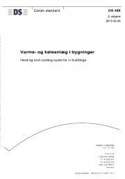 ds 469: 2013 varme- og køleanlæg i bygninger - bog