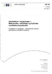 ds447. ventilation i bygninger - bog