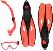 dunlop snorkelsæt med svømmefødder str. 40-42 - rød - Bade Og Strandlegetøj