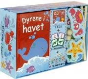 dyrene i havet - aktivitetsæske - aktivitetsæske med bog, huskespil og fiskespil med to fiskestænger. - Kreativitet