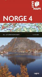 easy maps - norge delkort 4 - bog