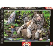 educa puslespil med 1000 brikker - hvid tiger - Brætspil