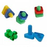 legetøjsværktøj - 48 skruer og møtrikker til børn - Rolleleg