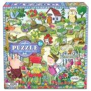 puslespil til børn - haven - 64 brikker - eeboo - Brætspil