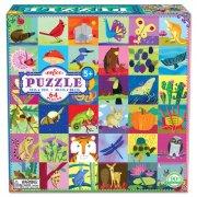 puslespil til børn - natur - 64 brikker - eeboo - Brætspil