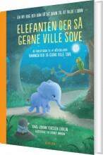 forsiden til børnebog med baby elefant
