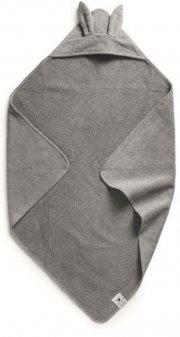 elodie details babyhåndklæde med hætte - grå - Babyudstyr