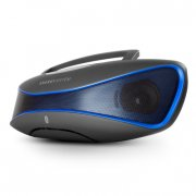 energy sistem 396948 bz6 bluetooth højtaler boks mp3+fm+usb - sort blå - Tv Og Lyd