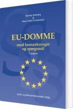eu-domme med bemærkninger og spørgsmål - bog