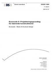 eurocode 0: projekteringsgrundlag for bærende konstruktioner - bog