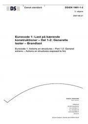 eurocode 1: last på bærende konstruktioner - del 1-2: generelle laster - brandlast - bog