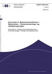 eurocode 2: betonkonstruktioner - betonbroer - dimensionerings- og detaljeringsregler - bog