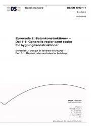 eurocode 2: betonkonstruktioner - del 1-1: generelle regler samt regler for bygningskonstruktioner - bog