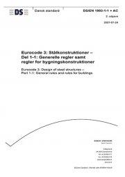 eurocode 3: stålkonstruktioner - del 1-1: generelle regler samt regler for bygningskonstruktioner - bog