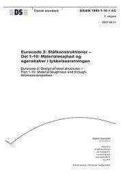 eurocode 3: stålkonstruktioner - del 1-10: materialesejhed og egenskaber i tykkelsesretningen - bog