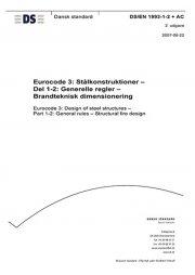 eurocode 3: stålkonstruktioner - del 1-2: generelle regler - brandteknisk dimensionering - bog