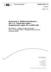 eurocode 3: stålkonstruktioner - del 1-4: generelle regler - supplerende regler for rustfrit stål - bog
