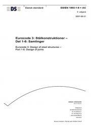 eurocode 3: stålkonstruktioner - del 1-8: samlinger - bog