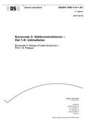 eurocode 3: stålkonstruktioner - del 1-9: udmattelse - bog