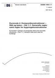 eurocode 4: kompositkonstruktioner - stål og beton - del 1-1: generelle regler samt regler for bygningskonstruktioner - bog