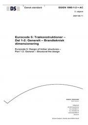 eurocode 5: trækonstruktioner - del 1-2: generelt - brandteknisk dimensionering - bog
