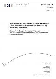 eurocode 6: murværkskonstruktioner - del 1-1: generelle regler for armeret og uarmeret murværk - bog