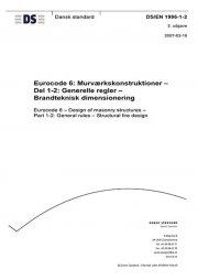 eurocode 6: murværkskonstruktioner - del 1-2: generelle regler - brandteknisk dimensionering - bog
