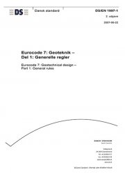 eurocode 7: geoteknik - del 1: generelle regler - bog