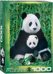 puslespil - eurographics - panda - 1000 brikker - Brætspil