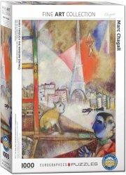 puslespil med 1000 brikker - marc chagall: paris through the window - eurographics - Brætspil