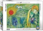 puslespil med 1000 brikker - marc chagall: the lovers of vence - eurographics - Brætspil