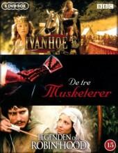 ivanhoe // de tre musketerer // legenden om robin hood - miniserie - DVD
