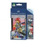faber castell anime art set - fantasy - 8 blyanter / 1 2b blyant / 1 artist pen / 1 pensel - Kreativitet