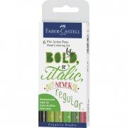 faber castell kalligrafi sæt - grønne nuancer - Kreativitet