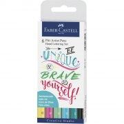 faber-castell pitt artist kalligrafi penne sæt - pastel - Kreativitet