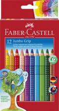 faber-castell jumbo grip farveblyanter - 12 stk. - Kreativitet