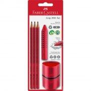 faber castell pencil set / blyantsæt - rød - Skole