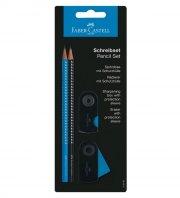 faber castell sparkle blyantsæt / skrivesæt - sort & blå - Kreativitet