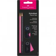 faber castell sparkle blyantsæt / skrivesæt - sort & pink - Kreativitet