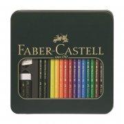 faber-castell - tin - polychromos kunstner farveblyanter & castell 9000 kunstner blyanter (110040) - Kreativitet