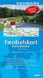færdselskort danmark 2016-2017 - bog