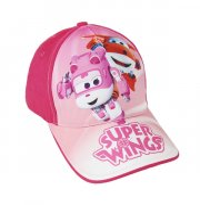 fashion super wings kasket til børn 53 cm - pink - Diverse