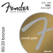 strenge til akustisk guitar: fender 80/20 bronze 70xl (10-48) - Musikinstrumenter