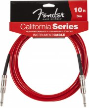 fender california series instrument cable / instrumentkabel - candy apple red - 3,0 m - Musikinstrumenter