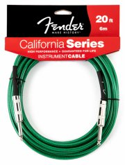 fender california series instrument cable / instrumentkabel - surf green - 6,0 m - Musikinstrumenter