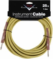 fender custom shop cable / instrumentkabel - gul - 7,5 m - Musikinstrumenter