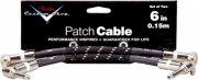 fender custom shop patch cable 15 cm - 2 stk. - sort - Musikinstrumenter