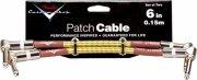 fender custom shop patch cable 15 cm - 2 stk. - gul - Musikinstrumenter