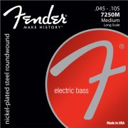 basstrenge til 4-strenget bas: fender nickel plated steel roundwound 7250m (45-105) - Musikinstrumenter