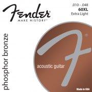 strenge til akustisk guitar: fender phosphor bronze 60xl - 10-48 - Musikinstrumenter